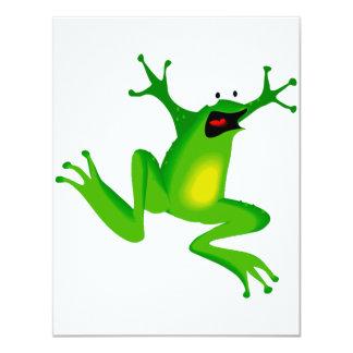 Convites engraçados do sapo verde