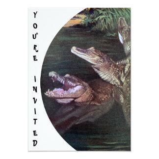 Convites engraçados dos crocodilos