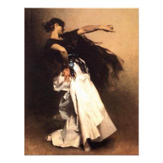 Convites espanhóis do dançarino de Sargent do cant