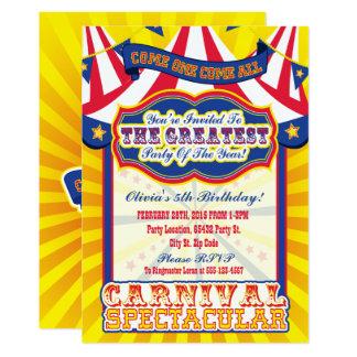 Convites espectaculares do aniversário do carnaval