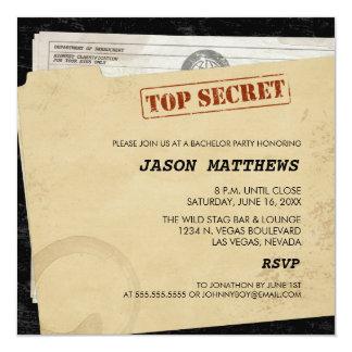Convites extremamente secretos engraçados do