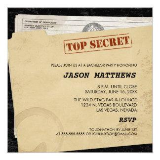 Convites extremamente secretos engraçados do despe