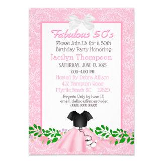 Convites fabulosos do aniversário da saia da