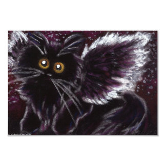 Convites feericamente do gato do gato preto