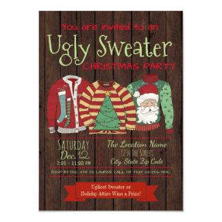 Convites feios da festa de Natal da camisola