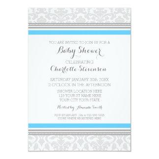 Convites feitos sob encomenda azuis cinzentos do convite 12.7 x 17.78cm