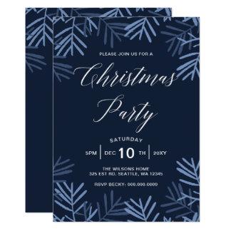 Convites felizes da festa de Natal dos ramos