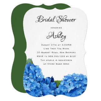 Convites florais azuis do Hydrangea do chá de