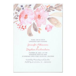 Convites florais da festa de noivado da aguarela convite 12.7 x 17.78cm
