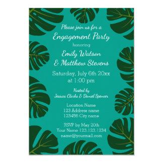 Convites florais da festa de noivado da palma