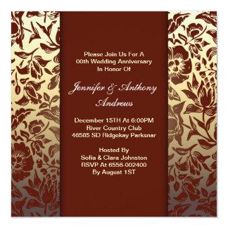 convites florais do aniversário de casamento