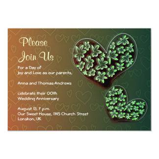 convites florais do aniversário de casamento dos