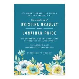 Convites florais do casamento da aguarela