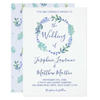 Convites florais do casamento da grinalda do