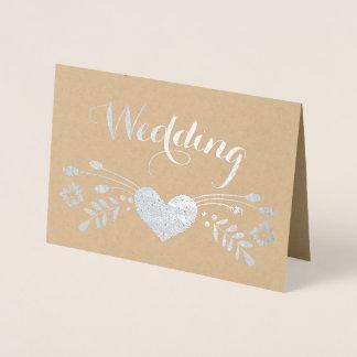 Convites florais do casamento da tipografia da