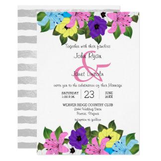 Convites florais do casamento do primavera bonito