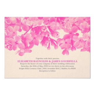 Convites florais do casamento do rosa quente