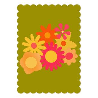 convites florais do casamento do verde do rosa do convite 12.7 x 17.78cm