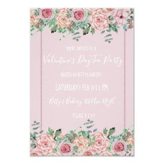 Convites florais do estilo do partido dos