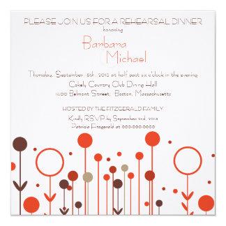 Convites florais do jantar de ensaio do ponto do