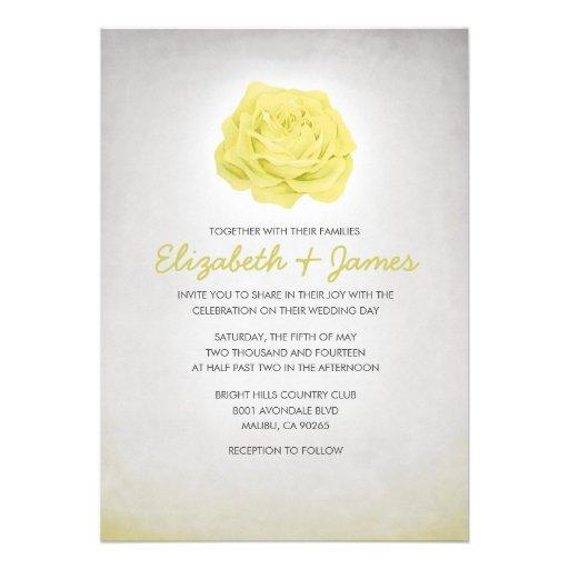 Convites florais na moda simples do casamento