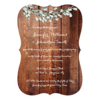 Convites florais rústicos de madeira do casamento
