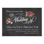 Convites florais rústicos do casamento do quadro
