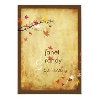 Convites/folhas de bordo do casamento outono do