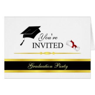 Convites formais da graduação - personalize cartão de nota