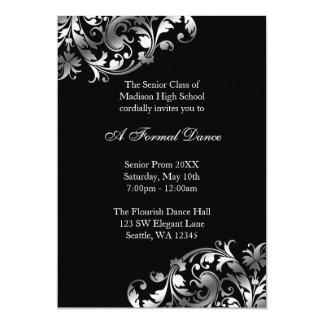 Convites formais da prata e do baile de formatura