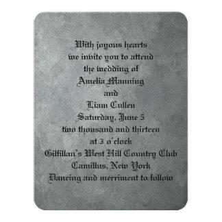 Convites formais de prata do casamento