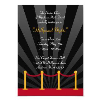 Convites formais do baile de formatura do tapete