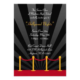 Convites formais do baile de formatura do tapete v