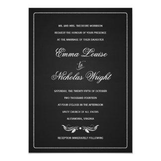 Convites formais do casamento da tipografia do