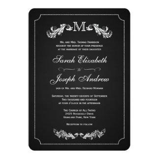 Convites formais do casamento do quadro do