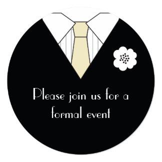 Convites formais do evento do terno preto