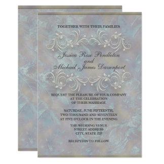 Convites formais marmoreados elegantes do