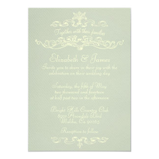 Convites formais simples do casamento