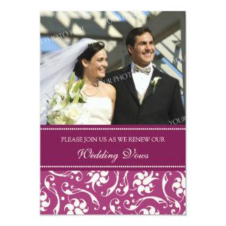 Convites fúcsia da renovação do voto de casamento