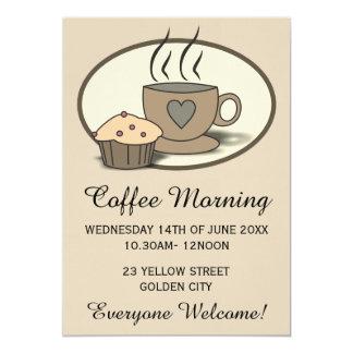Convites Fundraising do evento da manhã do café