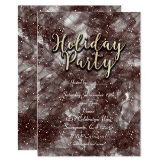 Convites Glam Glittery da festa natalícia