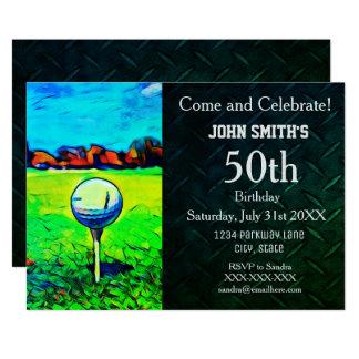Convites Golfing feitos sob encomenda do