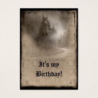Convites góticos do aniversário do castelo escuro