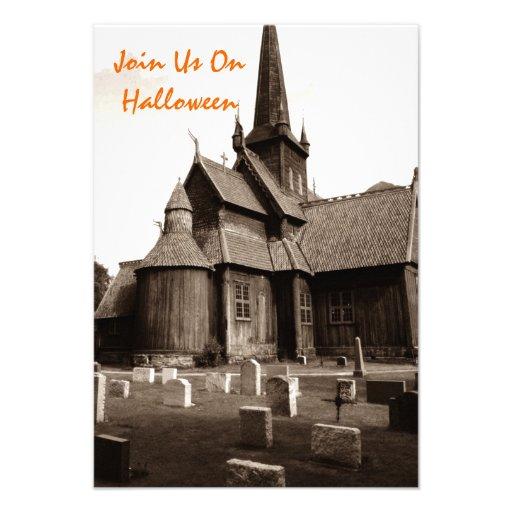 Convites góticos do gótico do cemitério da igreja