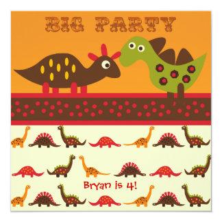 Convites grandes do aniversário do dinossauro do