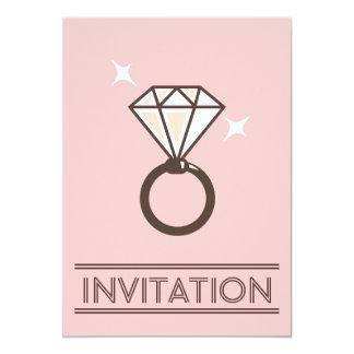 Convites grandes simples do casamento do rosa do convite 12.7 x 17.78cm