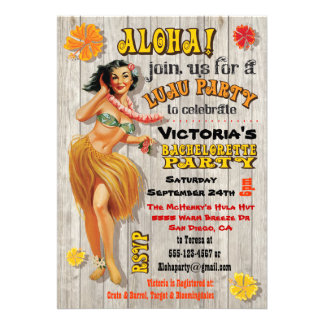 Convites havaianos da festa de solteira de Luau