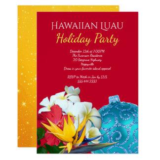 Convites havaianos da festa natalícia de Luau