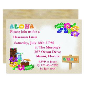Convites havaianos de Luau