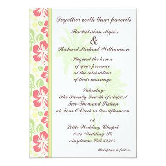 Convites havaianos do casamento de Luau